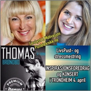 Livspust- og stressmestringsforedrag i Trondheim med Thomas Brøndbo 4 april_liten